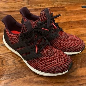 Adidas 2018 Ultraboost Running Shoe Size 10 Red